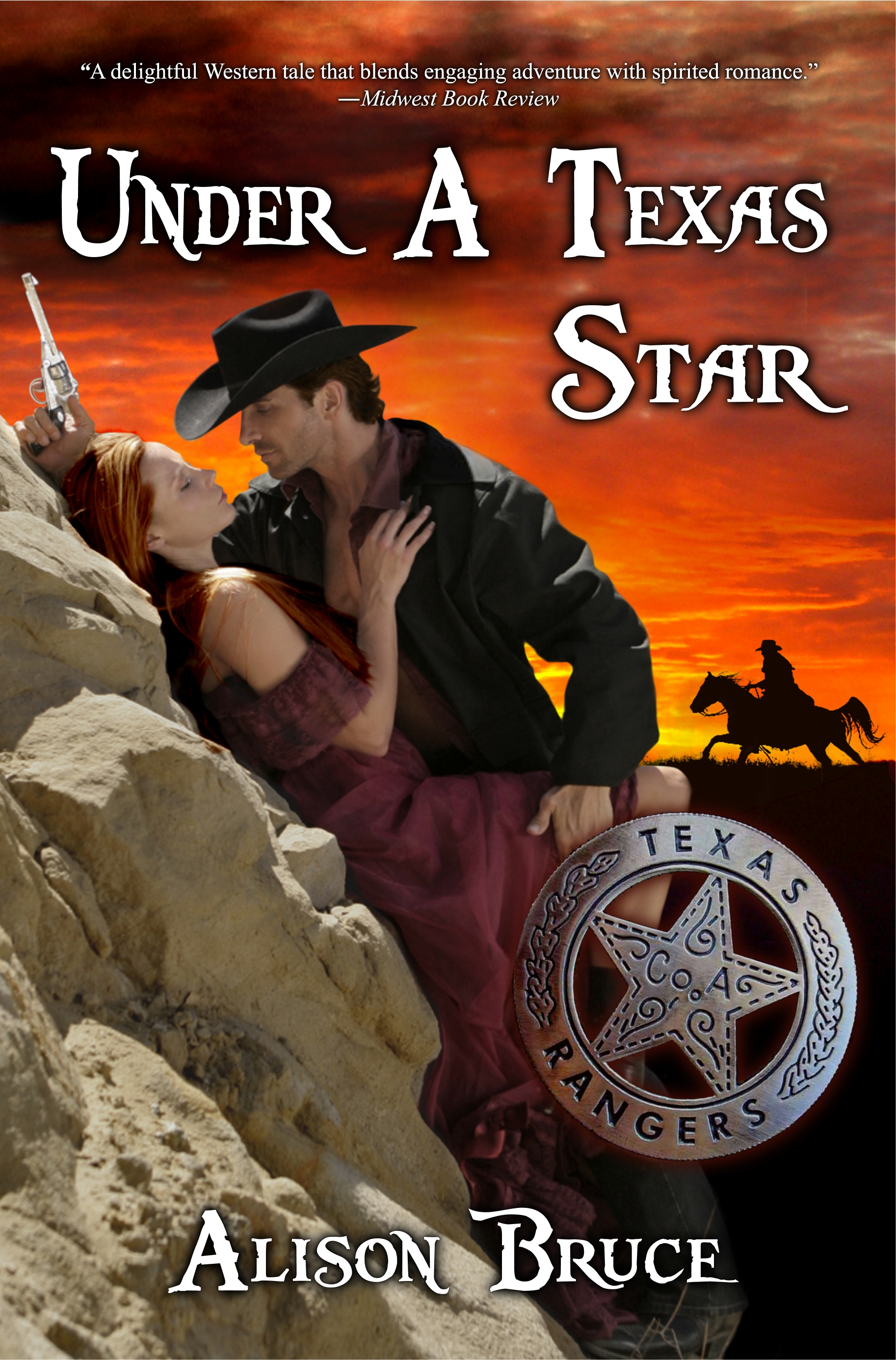 Western Book Cover Art : Under a texas star by alison bruce western historical