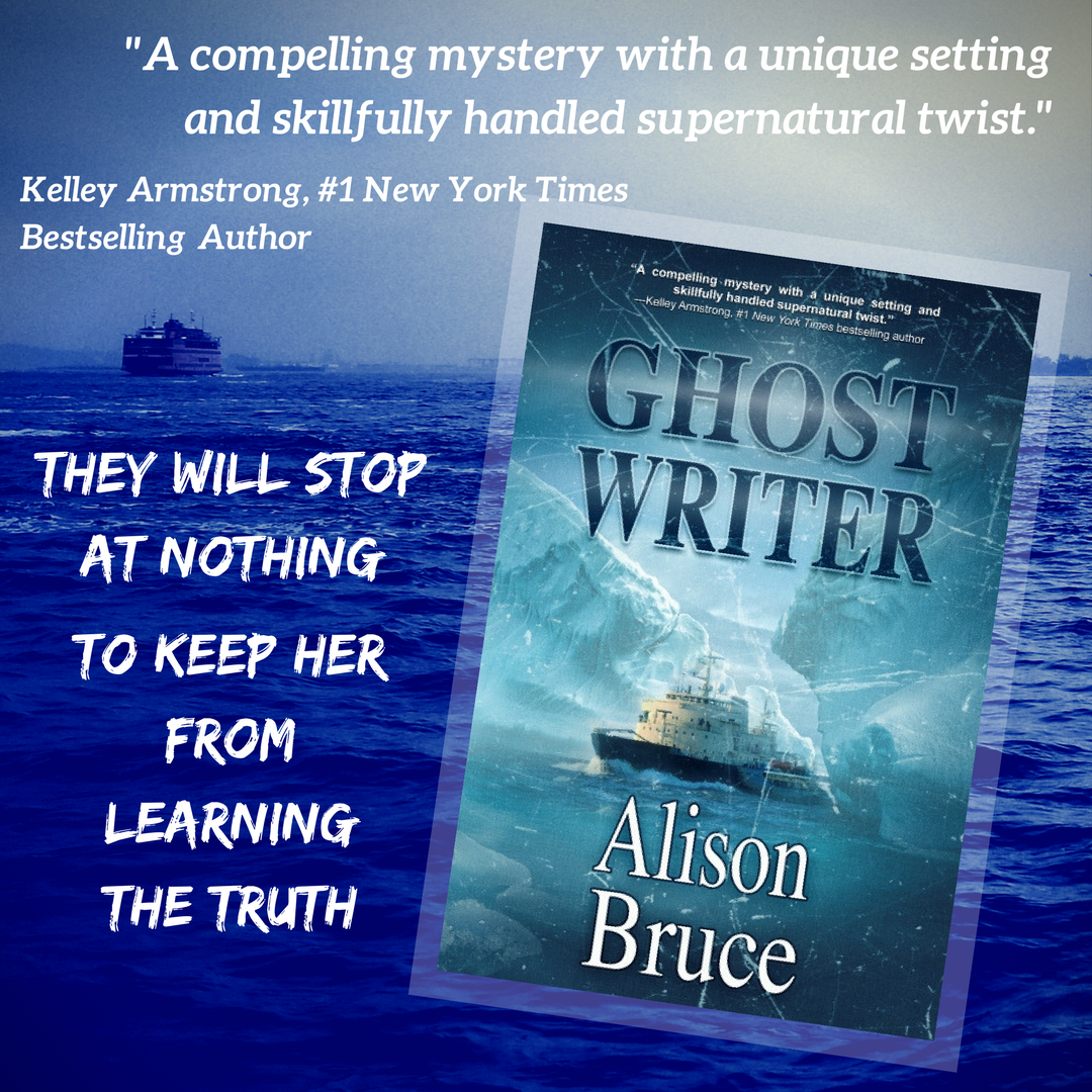 She can see them. They can kill her. GHOST WRITER by Alison Bruce #mystery #thriller